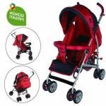 Aldeba 3018 Tam Yatar Baston Puset Bebek Arabası - Kırmızı