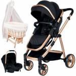 Baby Home Bh-955 Trio Gold Vip Travel Sistem Bebek Arabası Park Yatak Bebek Sepeti Beşik