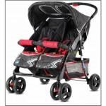 Babyhope P-L İkiz Puset (Yanyana) İkiz Bebek Arabası, Az Yer Kaplar Dar Gövdeli, 12,5 Kg Ağırlığında